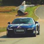 Audi R8 Jump Video – Man Jumps Audi R8 Driving 150 KPH (93 MPH)