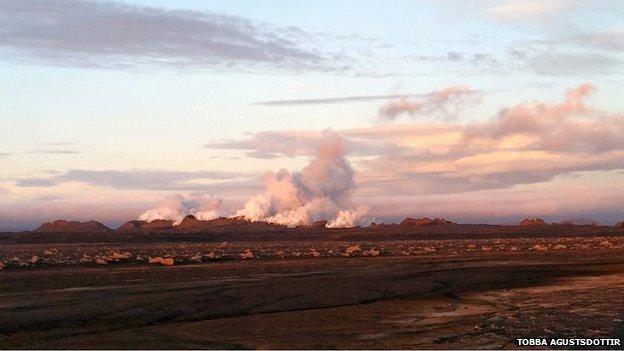 Eruption near Iceland Volcano  &nbsp Triggers Red Alert