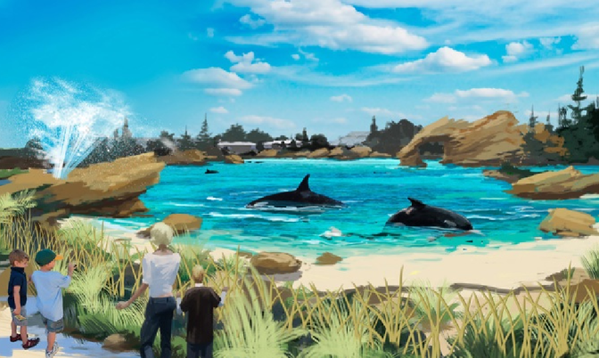New Habitat for SeaWorld Killer Whales
