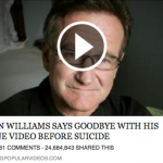 Robin Williams Cell Phone Video before Suicide Facebook Post Scam