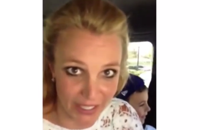 Britney Spears Woodie Woodpecker impression video