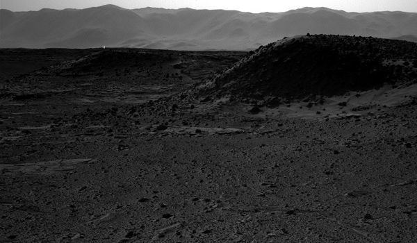 Strange UFO Light on Mars