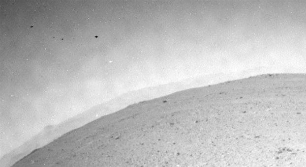 UFO Flying above Mars