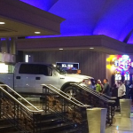 Man In Pickup Truck Crashes Into Stratosphere Hotel / Casino
