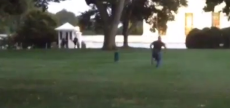 Man Jumps the White House Fence and Runs Inside VIDEO
