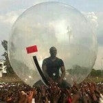 Akon Crowd Surfing in a Giant Bubble to Avoid Ebola