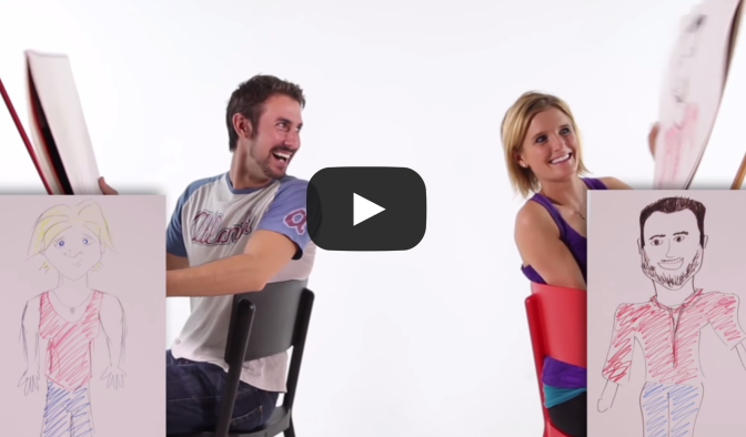 Couples Draw Each Other By Memory - BuzzFeed Video