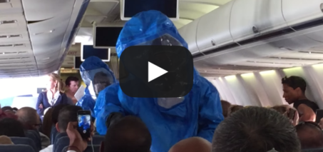 Ebola Scare on US Airways Flight 845 from Philadelphia to Punta Cana – October 8th 2014