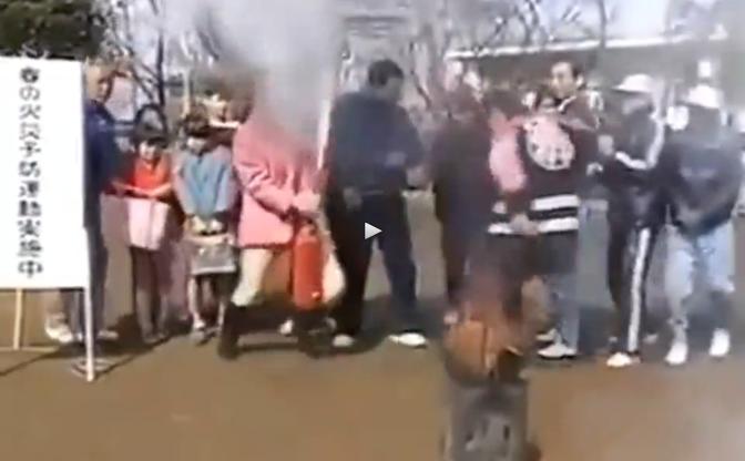 Fire extinguisher fail - Woman fails extinguisher training VIDEO