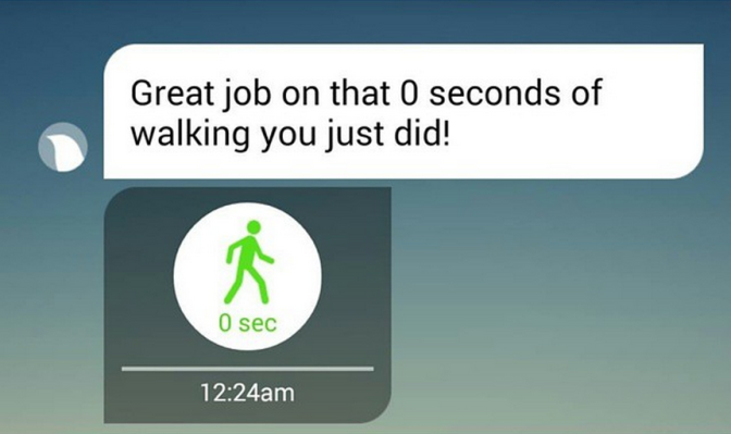 Great job on that 0 seconds of walking you just did!