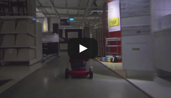 IKEA The Shining Halloween commercial Tricycle kid