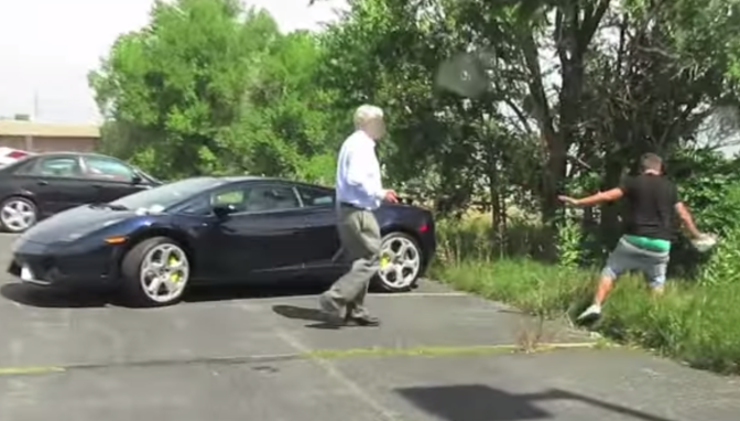 Lamborghini Poop Prank Ends in Man Getting Tasered