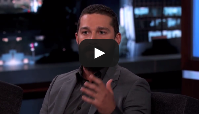 Shia LaBeouf on His Arrest - Jimmy Kimmel Live VIDEO