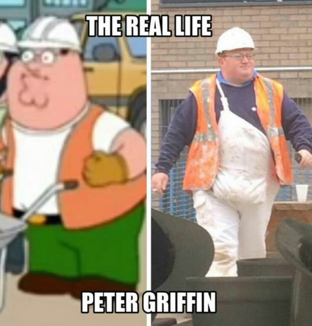 The Real Life Peter Griffin Meme - Construction Worker