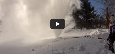 A Sprinkler in Winter? -48C / -57F, Winnipeg, MB, CANADA