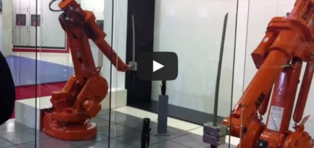 ABB Robots Katana Fight – Samurai Sword Robot Battle
