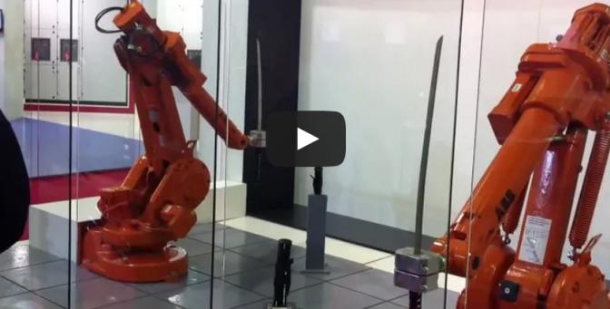 ABB Robots Katana Fight - Samurai Sword Robot Battle