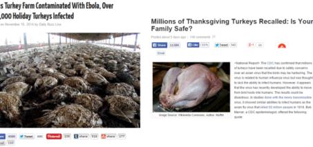 Avian Flu and Ebola Turkey Recall Hoaxes