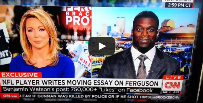 Benjamin Watson gets a little preachy on CNN