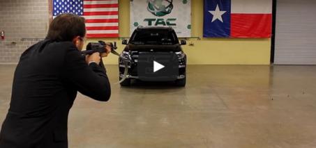 Bulletproof Mercedes Benz Shot with AK-47