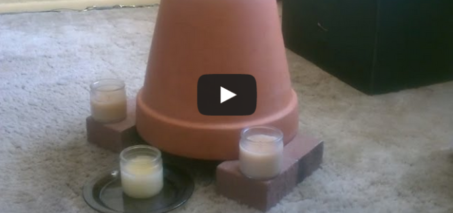 Candle Powered Air Heater – DIY Radiant Space Heater – flower pot heater – Easy DIY