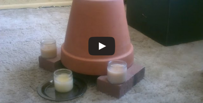 Candle Powered Air Heater - DIY Radiant Space Heater