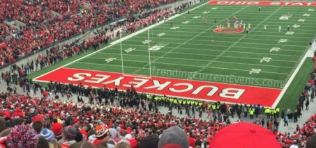 Cops trying to stop OSU fans from rushing the field