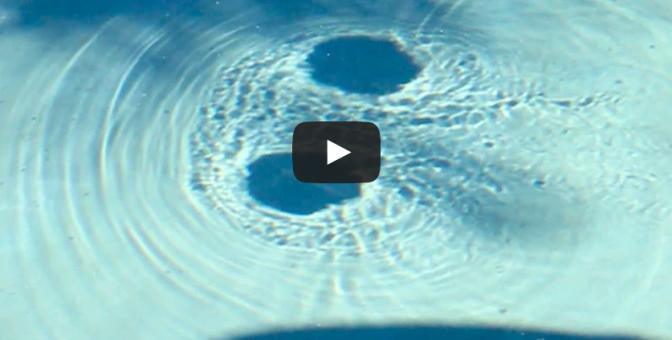 Crazy pool vortex - Black circles that go around the pool