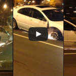 Driver In Newark Rides Out 'Til the Wheel Falls Off