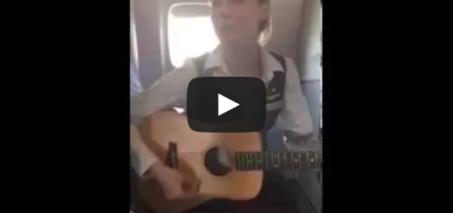 """Flight Attendant Robynn Shayne breaks out """"Royals"""""""