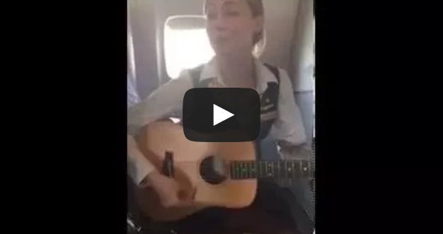 "Flight Attendant Robynn Shayne breaks out ""Royals"""