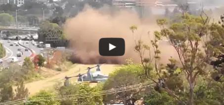 G20 Helicopter (Osprey) Fail – VTOL makes huge dust cloud