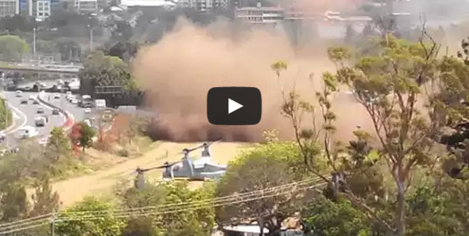 G20 Helicopter (Osprey) Fail - VTOL makes huge dust cloud