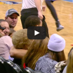 Javale McGee Kisses Denver Fan, She has Great Reaction