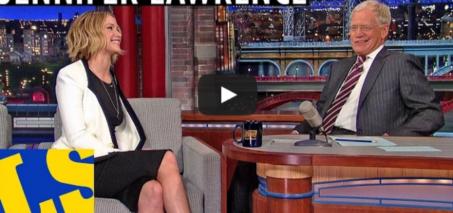 Jennifer Lawrence and David Letterman Sing!