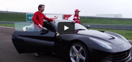 Kimi and the F12berlinetta – Ferrari on the track video