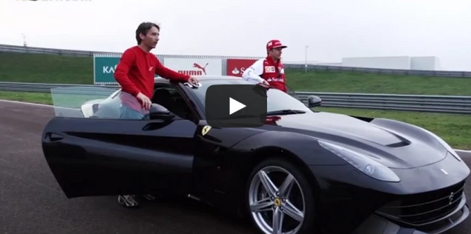 Kimi and the F12berlinetta - Ferrari on the track video