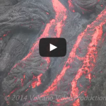 Lava activity in Hawaii – Volcano lava flowing
