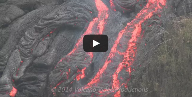 Lava activity in Hawaii - Volcano lava flowing