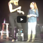Little Girl shows Carrie Underwood how it's done!
