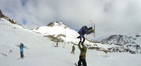 Proper High Five Video: Skiing side flip high five, Instagram