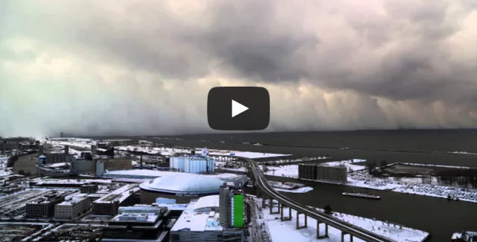 Time-Lapse of Buffalo Lake Effect Snow - Nov 18 2014