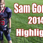 Unbelievable Girl Football Player Highlights! Sam Gordon 2014