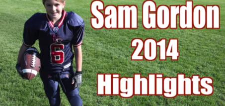 Unbelievable Girl Football Player Highlights! Sam Gordon 2014