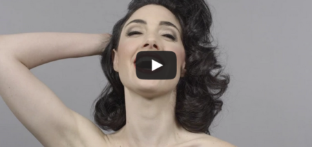 100 Years of Beauty in 1 Minute – Hairstyle, Makeup Time Lapse