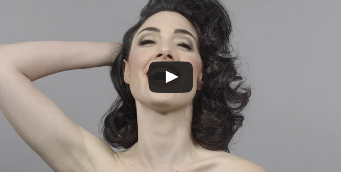 100 Years of Beauty in 1 Minute - Hairstyle Time Lapse