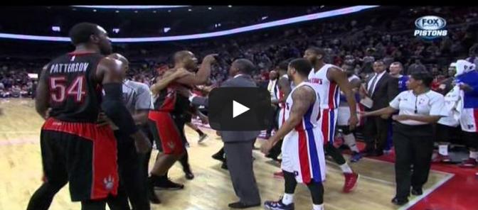 Andre Drummond flagrant foul on James Johnson