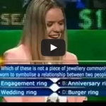 Australia's Who Wants To Be A Millionaire Fail Burger Rings