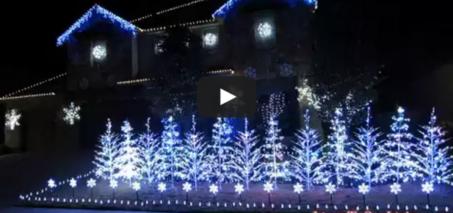 Frozen Christmas Lights (Let It Go) 2014