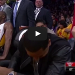 Kobe Bryant Talks To Drake During Overtime vs Raptors